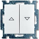 1413-0-1082 - Выключатель жалюзи без фиксации (белый)
