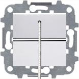 - Выключатель кнопочный со шнурком, 16А, ABB ZENIT (белый)
