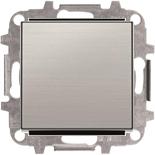 8110+2CLA850100A1401 - Переключатель одноклавишный проходной (перекрёстный), 10А, с клавишей ABB Sky (нержавеющая сталь)