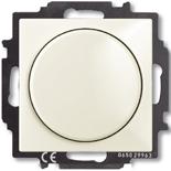6515-0-0847 - Диммер Busch-Dimmer 60-400 Вт проходной ABB Basic 55 (шале-белый)
