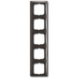 1725-0-1510 - Пятиместная рамка с декоративной накладкой ABB Basic 55 (шато-черная)
