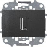 N2214.5 AN (1 шт.) + N2271.9 (1 шт.) - Карточный выключатель, 16А, ABB ZENIT (антрацит)