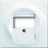 1753-0-4989 - Лицевая панель для аудиорозеток ABB Impuls (альпийский белый)