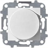 N2260.2 BL (1 шт.) + N2271.9 (1 шт.) - Светорегулятор с поворотной кнопкой 60-500Вт, АВВ Зенит (белый)