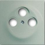 1753-0-5846 - Лицевая панель для телевизионных розеток на 3 разъема ABB Impuls (шампань-металлик)