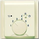 1032-0-0498+1710-0-3746 - Терморегулятор для тёплого пола с электроподогревом, 16А/250В, с лицевой панелью ABB Impuls (слоновая кость)
