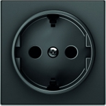 2CLA858800A1501 - Накладка для розеток SCHUKO, ABB SKY (чёрный бархат)