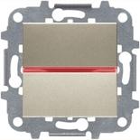 N2210 CV (1 шт.) + N2192 RJ (1 шт.) + N2271.9 (1 шт.) - Переключатель перекрестный с подсветкой, 16А, ABB ZENIT (шампань)