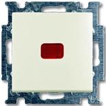 1012-0-2185 - Выключатель одноклавишный с подсветкой ABB Basic 55 (шале-белый)