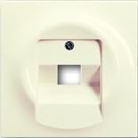 1753-0-0085 - Лицевая панель для розетки телефонной/компьютерной на 1 коннектор, ABB Impuls (слоновая кость)