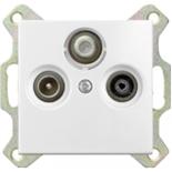 1724-0-4283 (1 шт.) + S4100 (1 шт.) - Розетка TV-FM-SAT оконечная Jung с лицевой панелью Basic 55 (белая)