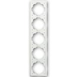 1754-0-4436 - Рамка 5-постовая ABB Impuls (белый бархат)