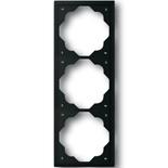 1754-0-4426 - Рамка 3-постовая ABB Impuls (чёрный бархат)