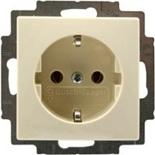2011-0-3857 - Розетка с заземлением с безвинтовыми зажимами ABB Basic55, (слоновая кость)