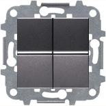 N2101 AN (2 шт.) + N2271.9 (1 шт.) - Выключатель двухклавишный, 16А, ABB ZENIT (антрацит)