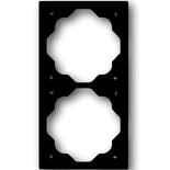1754-0-3518 - Рамка 2-постовая ABB Impuls (чёрный бриллиант)