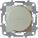 N2260.3 CV (1 шт.) + N2271.9 (1 шт.) - Светорегулятор с поворотной кнопкой для регулируемых LED ламп 2-100Вт, ABB ZENIT (шампань)