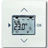 1032-0-0509+6430-0-0380 - Терморегулятор (термостат) электронный для тёплых полов, с таймером, 16А/250В, с лицевой панелью ABB Impuls (белый бархат)