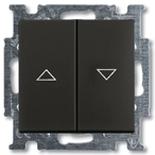 1012-0-2176 - Выключатель жалюзи с фиксацией (шато-черный)