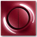 1012-0-2111+1753-0-0105 - Выключатель двухклавишный с подсветкой, с клавишами ABB Impuls (бордо)