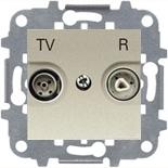 8150 (1 шт.) + N2250.8 CV (1 шт.) + N2271.9 (1 шт.) - Розетка TV-R без фильтра, ABB Zenit (шампань)