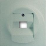 1753-0-8998 - Лицевая панель для розетки телефонной/компьютерной на 1 коннектор, ABB Impuls (шампань-металлик)