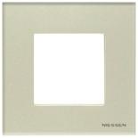 N2271 CP - Одноместная рамка, АББ Зенит (жемчужное стекло)