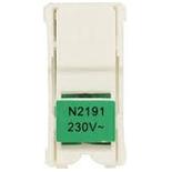 N2191 VD - Лампа светодиодная для выключателей, цвет цоколя зелёный, ABB ZENIT