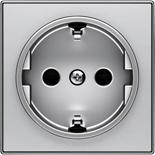 2CLA858800A1301 - Накладка для розеток SCHUKO, ABB SKY (серебристый)
