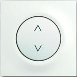 6410-0-0376+6430-0-0379 - Выключатель жалюзи базовый электронный, 3А/690ВА, с лицевой панелью ABB Impuls (белый бархат)