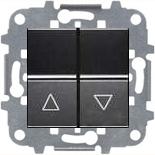 N2244.1 AN (1 шт.) + N2271.9 (1 шт.) - Выключатель жалюзи с фиксацией, 16А, АББ Зенит (антрацит)