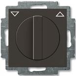 1101-0-0929 - Выключатель жалюзи с поворотной ручкой, без фиксации (шато-черный)