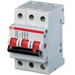 2CDE283001R0032 - Рубильник ABB E203r, 32A, трёхполюсный (красный переключатель)