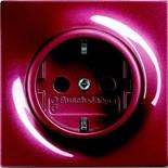 2013-0-5295 - Розетка электрическая с заземлением и с защитой от детей, 16A, ABB Impuls (бордо)