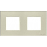 N2272 CP - Двухместная рамка, ABB ZENIT (жемчужное стекло)