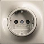 2013-0-4979 - Розетка электрическая с заземлением и защитными шторками, 16А, АВВ Импульс (шампань-металлик)