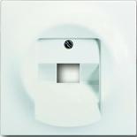 1753-0-0194 - Лицевая панель для розетки телефонной/компьютерной на 1 коннектор, ABB Impuls (белый бархат)