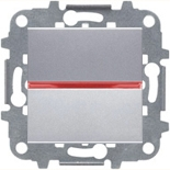 N2210 PL (1 шт.) + N2192 RJ (1 шт.) + N2271.9 (1 шт.) - Переключатель перекрестный с подсветкой, 16А, ABB ZENIT (серебристый)