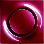 6410-0-0376+6430-0-0346 - Выключатель жалюзи базовый электронный, 3А/690ВА, с лицевой панелью ABB Impuls (бордо)