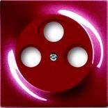 1753-0-0108 - Накладка для антенной розетки TV+FM+SAT, ABB Impuls (бордо)