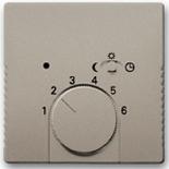 1032-0-0498 (1 шт.) + 1710-0-3931 (1 шт.) - Терморегулятор ABB Basic 55 (шампань)