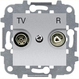8150.7 (1 шт.) + N2250.8 PL (1 шт.) + N2271.9 (1 шт.) - Розетка TV-R проходная, ABB Zenit (серебристая)