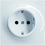 2011-0-3790 - Розетка электрическая с заземлением (2к+З), 16А, АББ Импульс (альпийский белый)