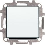 8110+2CLA850100A1101 - Переключатель одноклавишный проходной (перекрёстный), 10А, с клавишей ABB Sky (белый)