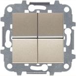 N2101 CV (2 шт.) + N2271.9 (1 шт.) - Выключатель 2-клавишный, 16А, АВВ Зенит (шампань)
