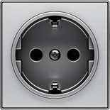 2CLA858800A1401 - Накладка для розеток SCHUKO, ABB SKY (нержавеющая сталь)