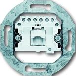 0230-0-0378 - Механизм розетки телефонной, подходят коннекторы RJ11/RJ12 и RJ45, ABB
