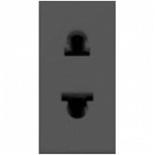N2135 AN - Розетка без заземления (узкая), 16А, ABB ZENIT (антрацит)