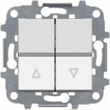 N2244.1 BL (1 шт.) + N2271.9 (1 шт.) - Выключатель жалюзи с фиксацией, 16А, ABB ZENIT (белый)