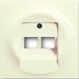 1753-0-0083 - Лицевая панель для розеток коммутационных на 2 коннектора, ABB Impuls (слоновая кость)